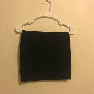 Dark Grey Pencil Skirt